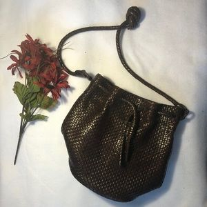 Leather Talbots Bucket Bag